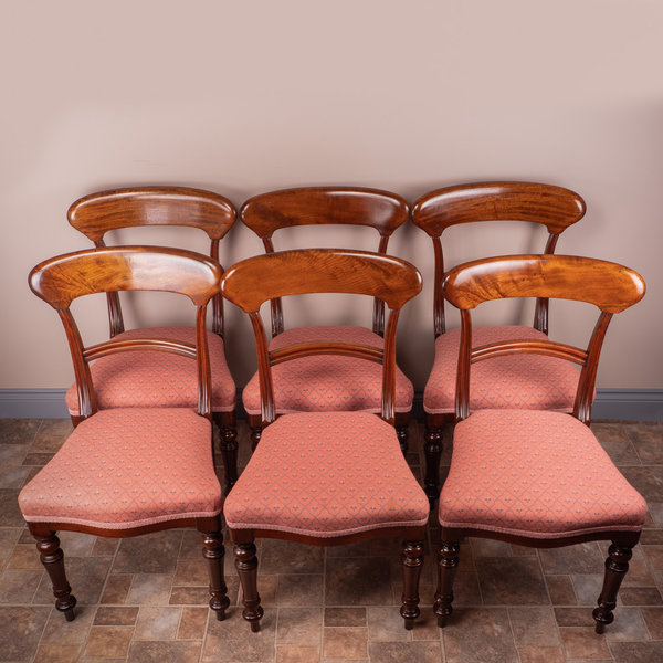 Set Of Six Mahogany Victorian Dining Chairs