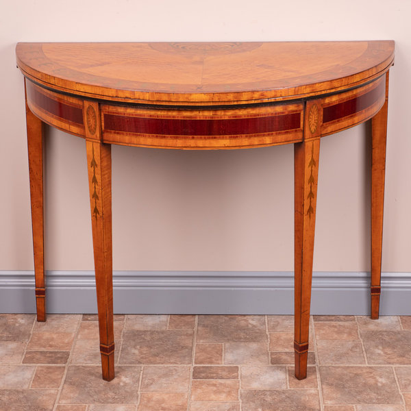 Highly Decorative Satinwood Card Table