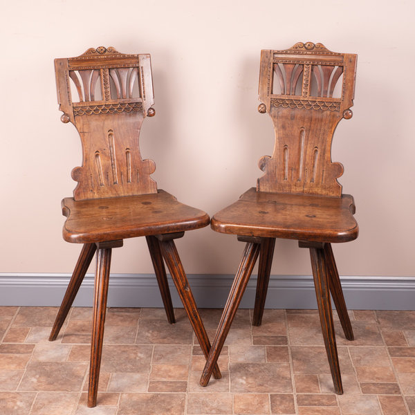 Pair Of Swiss Stabelle Chairs