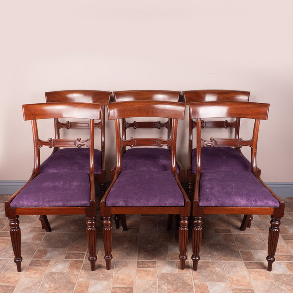 Set Of 6 19thC Mahogany Dining Chairs