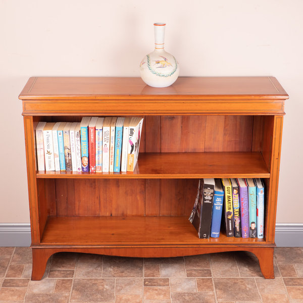 Inlaid Yew Open Bookcase