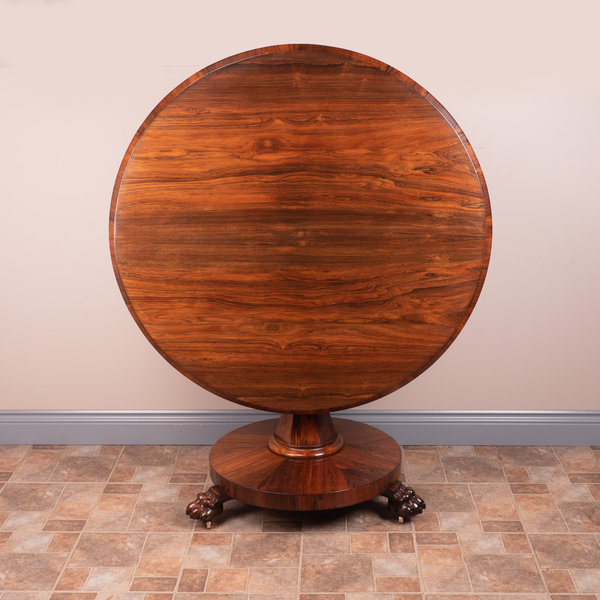 Round Rosewood Centre Table