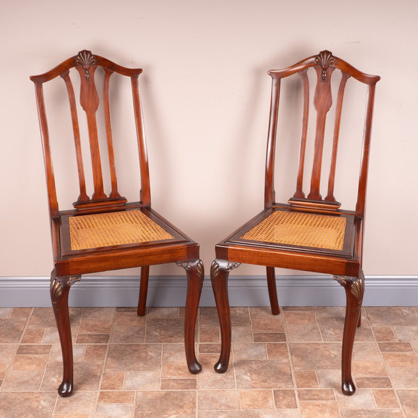 Pair Of Cane Seated Bedroom Chairs