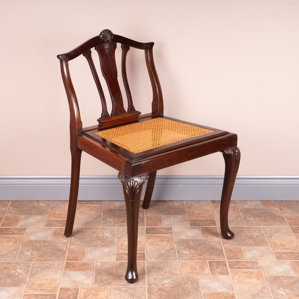 Low Backed Cane Seated Chair