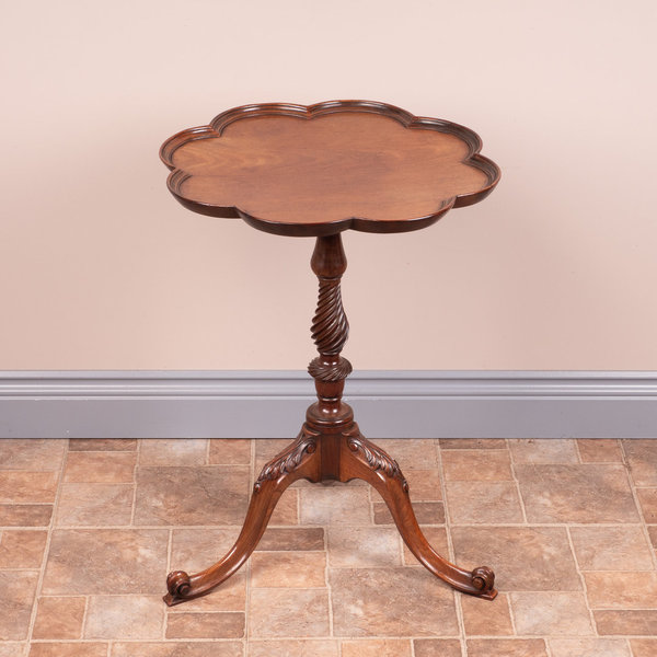 Carved Mahogany Tripod Wine Table