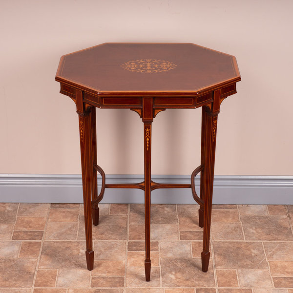 Fine Quality Edwardian Inlaid Mahogany Occasional Table