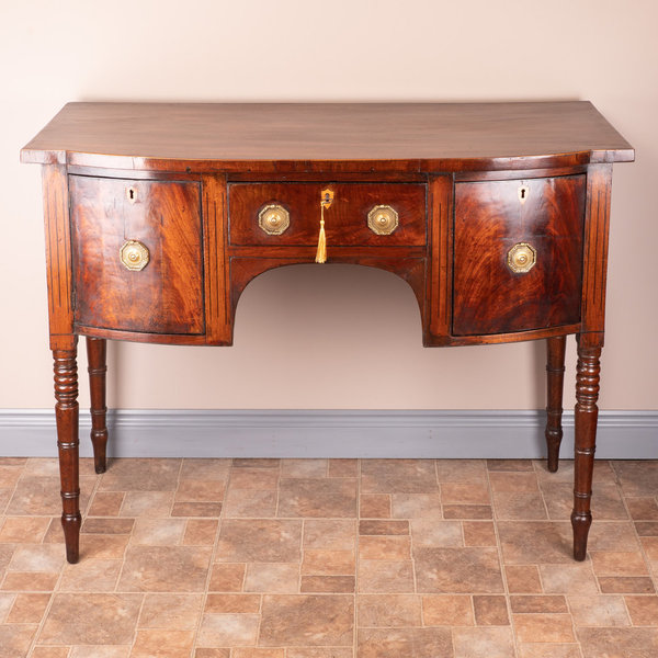 Regency Inlaid Mahogany Sideboard