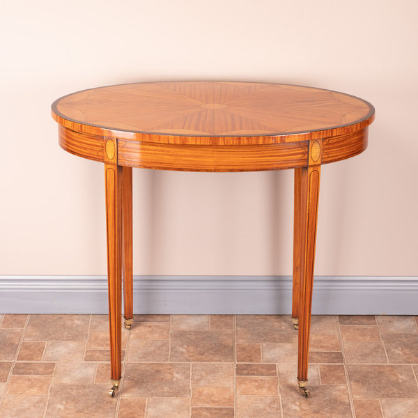 Inlaid Oval Satinwood Occasional Table