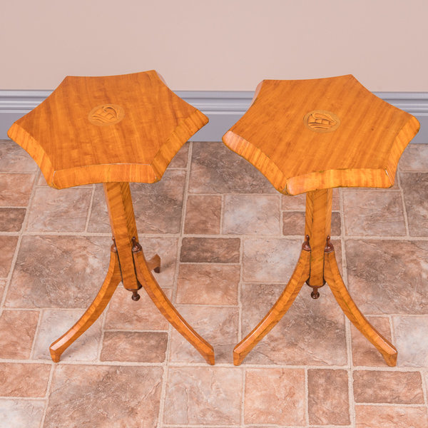 Pair Of Satinwood Wine Tables