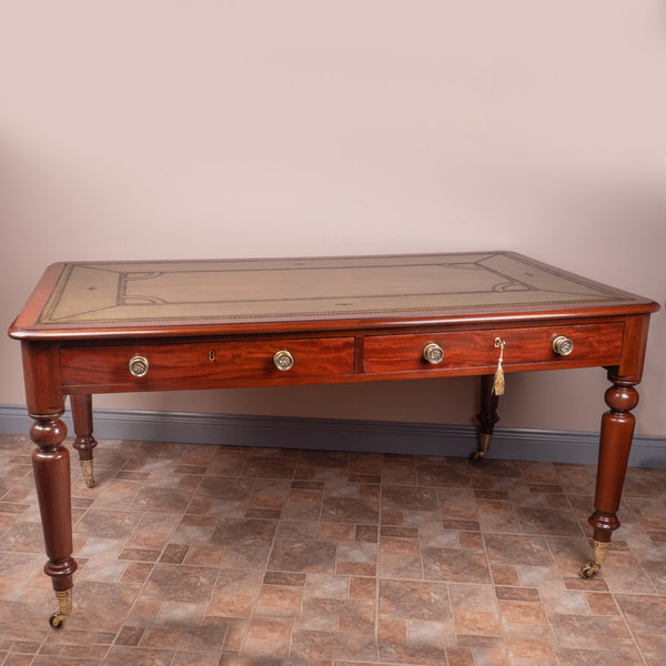Victorian Mahogany Partners Writing Table