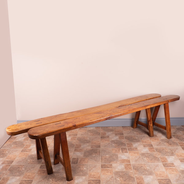 Pair Of French Fruitwood Benches