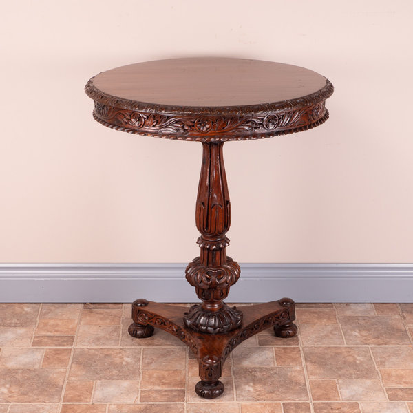 Anglo Indian Round Occasional Table