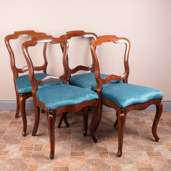 Set Of Four French Rosewood Dining Chairs