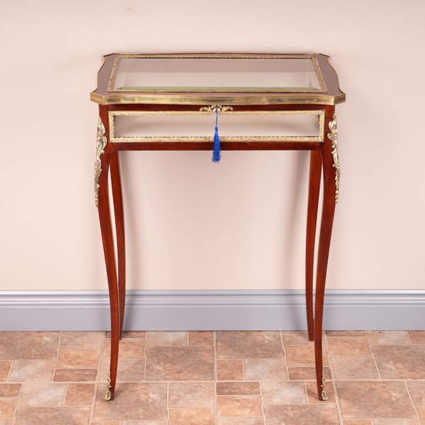 French Ormolu Mounted Bijouterie Display Table