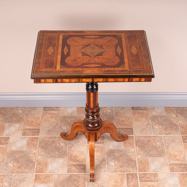 High Quality Specimen Inlaid Tripod Table